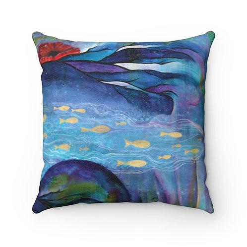 Poseidon's Muse Pillow - Spun Polyester