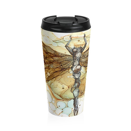 Fall Dragonfly Stainless Steel Travel Mug