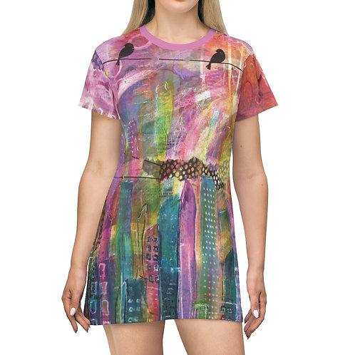 Urban City T-Shirt Dress
