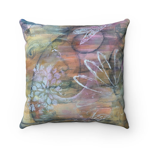 Vintaged Pillow - Spun Polyester