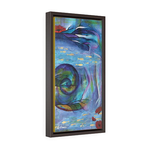 Poseidon's Muse Framed Premium Gallery Wrap Canvas