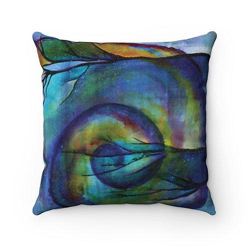 Poseidon's Muse Nautilus Faux Suede Square Pillow Case