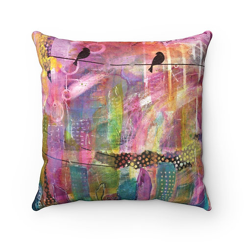 Urban City Faux Suede Square Pillow Case