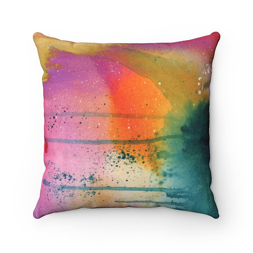 Serenity Faux Suede Square Pillow Case