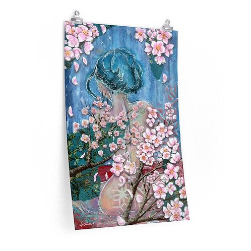 Girl with the Blue Hair Premium Matte Print