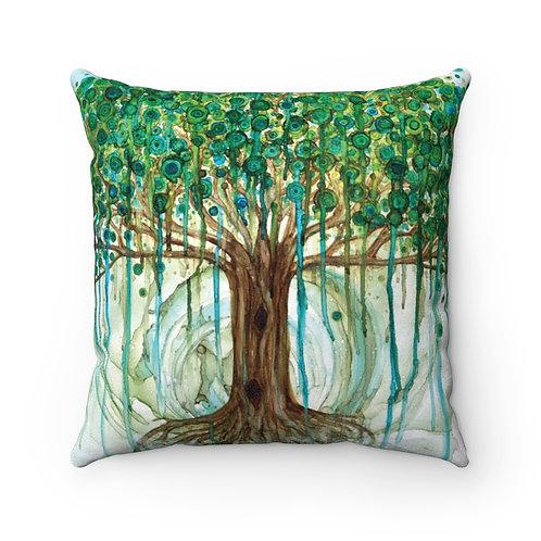 Lifetree Faux Suede Square Pillow Case