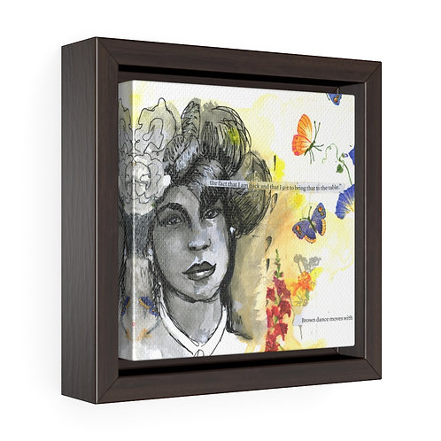 Women of Substance - Brown Dance Moves Framed Premium Gallery Wrap Canvas