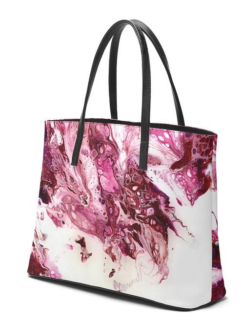 Kika Cherry Dragon Leather Tote Bag