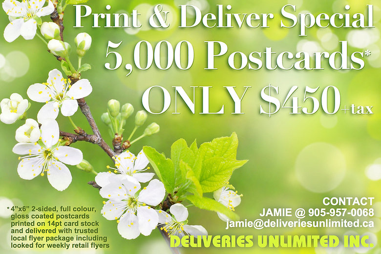 4x6 postcard print & deliver special Upd