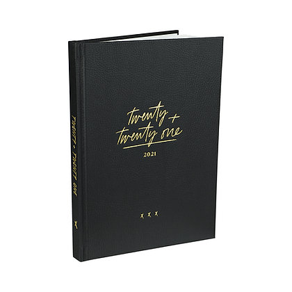 Diary Planner / Jahresplaner 2021 -  [A5, Black]