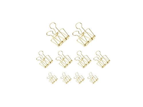 Skeleton Binder Clips - Set Gold