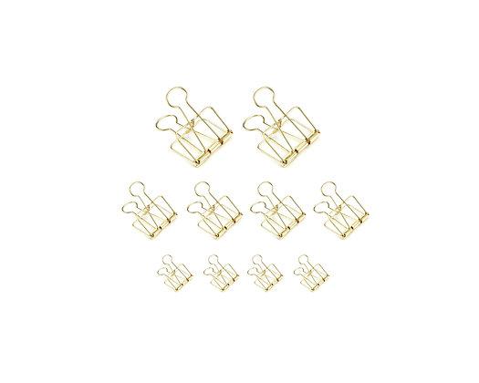 Foldback Klammern Set [Gold, 10 Stück]