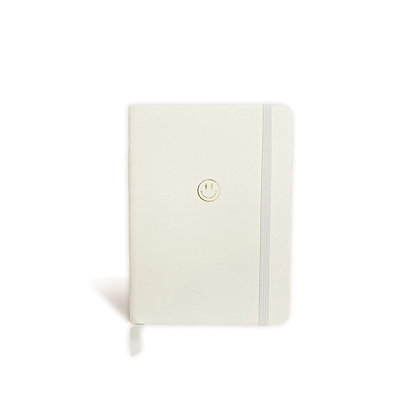 """Notebook """"Smiley"""" [A6, Ivory / Gold]"""