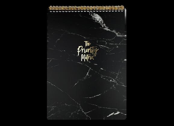 "ORGANIZATION PAD ""PRIORITY MATRIX"", A4, black /gold"