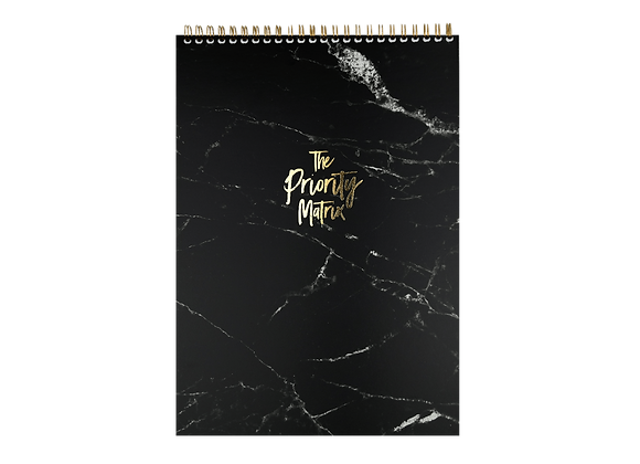 "ORGANIZATION PAD ""PRIORITY MATRIX"", A4, black /gold"