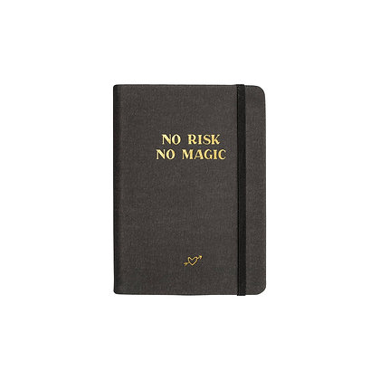"Notizbuch / Notebook ""No Risk No Magic"" [A6, Anthrazit]"