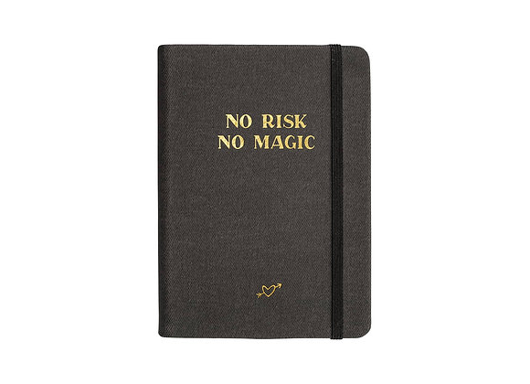 "Notizbuch / Notebook ""No Risk No Magic"" [A6, Anthrazit]"