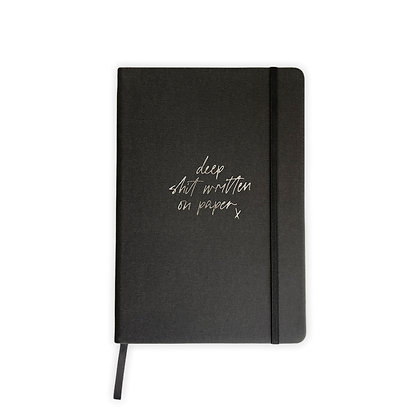 """Notebook """"Deep Shit"""" [A5, Anthracite / Silver]"""