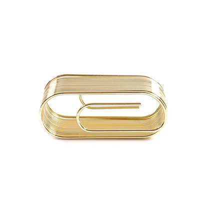 The Giant Paper Clip Desk Organizer [Gold]