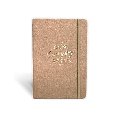 "Notebook ""Magic Seeker"" [A5, Coffee / Gold]"