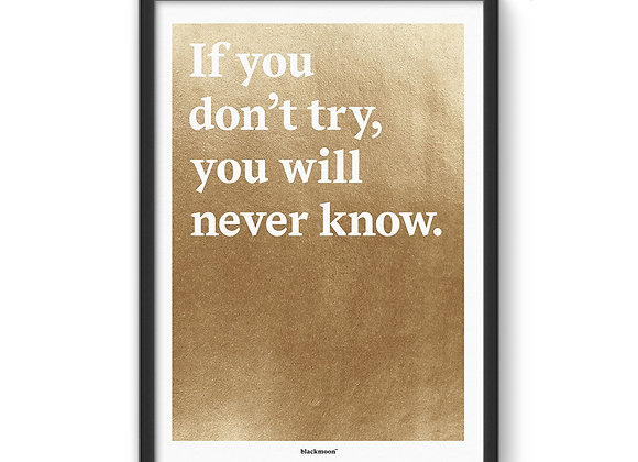 "Art Print ""If you don't try..."""