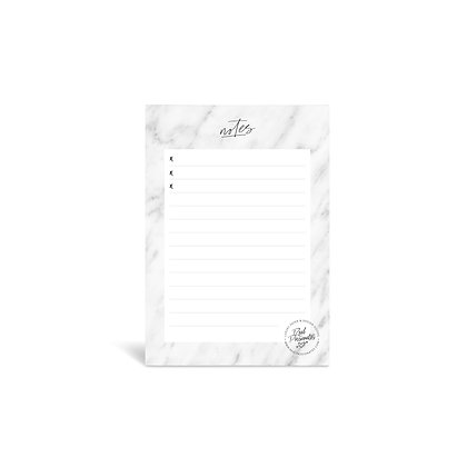 "Kleiner Notizblock / Little Notepad ""Notes"" [A6, Marble]"