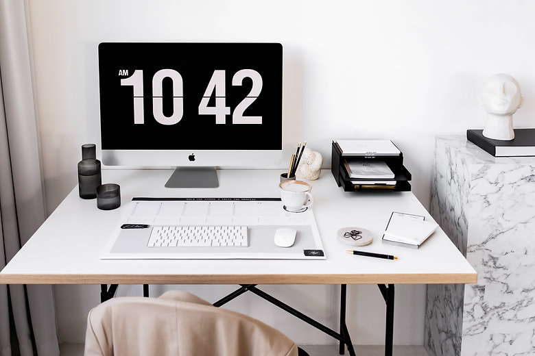 Schreibtisch Desk Situation deskstyle XL Schreibtischunterlage Design Notizblöcke Schreibblöcke Shoppinglist Marmor