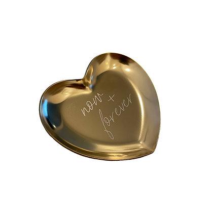 """Kleine Schale, Tablett / Bowl """"now + forever""""[Gold]"""