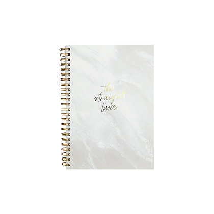 "Ringbuch ""Straight Lines"" [A5, Sahara Marble]"