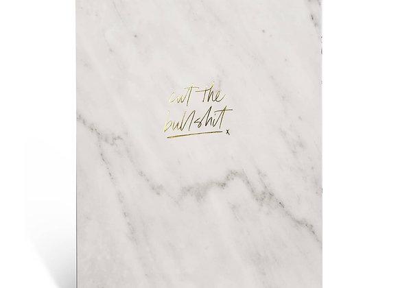 "Notizblock / Notepad ""Cut the Bullshit"" [A4, White Marble]"