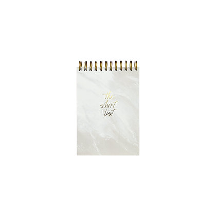 "To-Do Liste ""Short List"" [A6, Sahara Marble]"