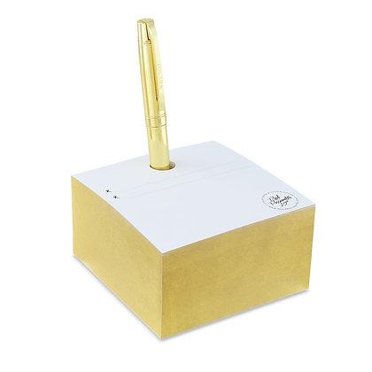 Note Cube - Gold  |  Zettelblock - Gold