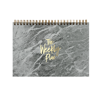 "NOTEPAD ""WEEKLY PLAN""| A5 | grey + gold"