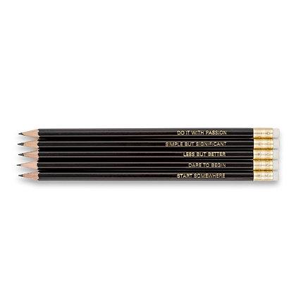 "Bleistift Set / Pencil Set ""MOTIVATION"" [5 St., Black]"