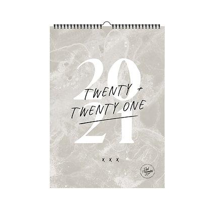 Wandkalender 2021 [A3, Limestone greige]