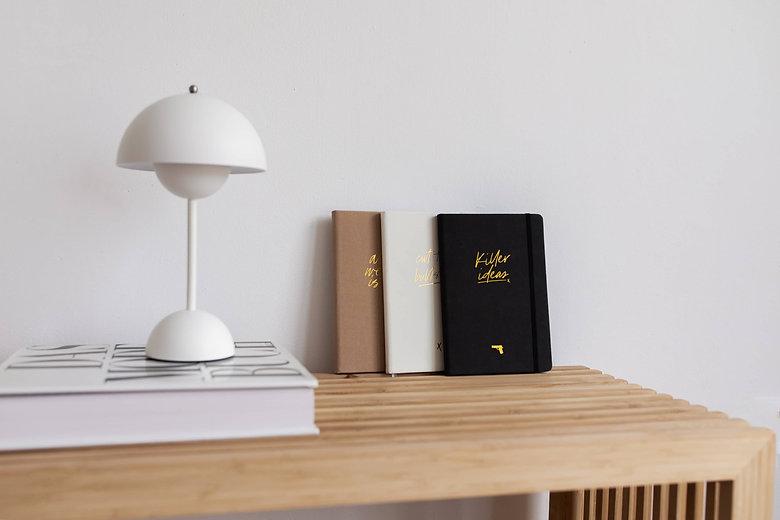 Real Passionates Notizbuch Pocket Size Kollection 2021 notebook journal punktiert A6 und A5 szizzenbuch Taschenformat runde Ecken Design Lampe