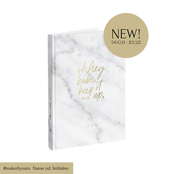 "Academic Planner ""oh hey babe, keep it up"" 2021/22 [A5, White Marble]"