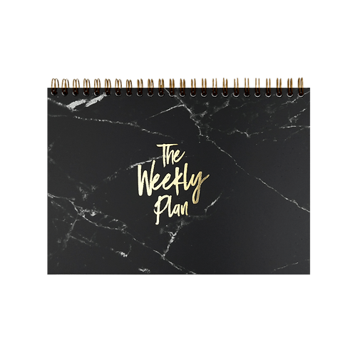 """Notepad """"Weekly Plan"""" , A5, black/gold"""