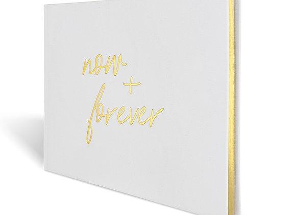 """Gästebuch Hochzeit """"now + forever"""""""