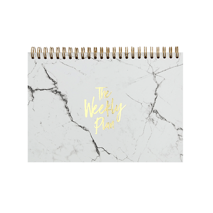 """Notepad """"Weekly Plan"""" [A5, White/Gold]"""