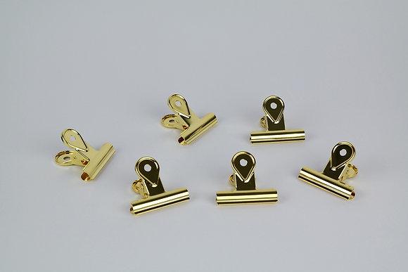 Bulldog Clip Set Gold (S) - 6 Stück