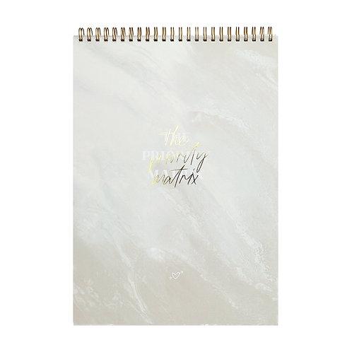 "Organization Pad ""Priority Matrix"" [A4,  Sahara Marble]"
