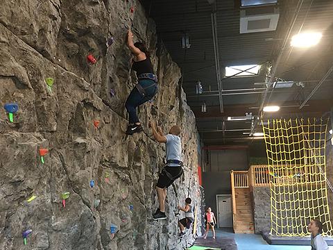 Natural stone texture climbing wall