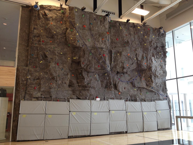 Highschool Rock Climbing Wall
