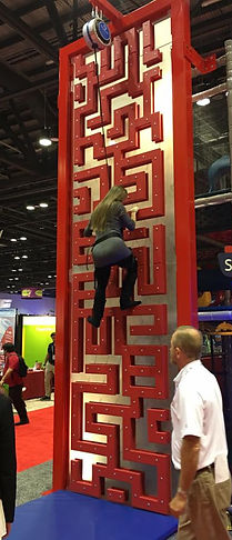 impact climbing maze wall construction