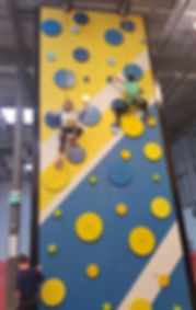 final product of spinning disc climbing wall