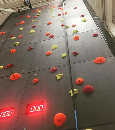 custom speed wall installation by impact climbing