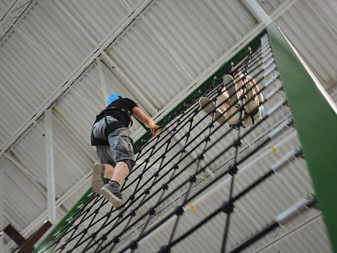 impact ninja adventure course cargo net obstacle