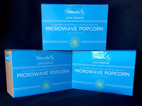 LOW SODIUM!! Smude's Brand Microwave Popcorn