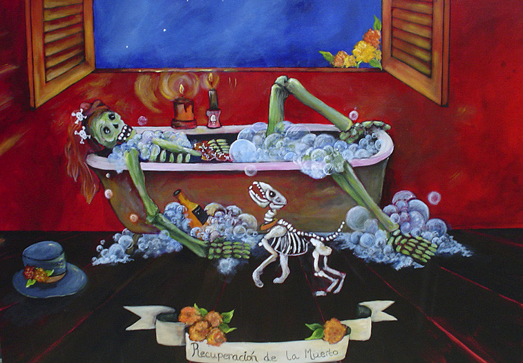 Day of Dead Festival Painting